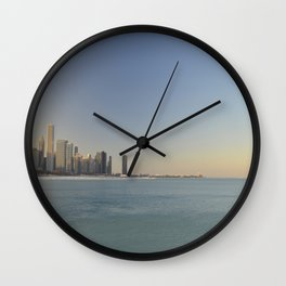 Chicago skyline #1 Wall Clock