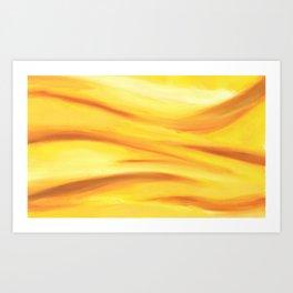 Yellow Wave Abstract Art Print