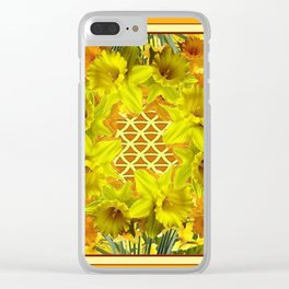 VIGNETTE OF YELLOW SPRING DAFFODILS GARDEN Clear iPhone Case