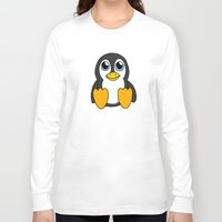 penguin Long Sleeve T-shirts featuring Penguin by BlackBlizzard