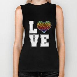 Rainbow Love Cool LGBT Lesbian Gay Bisexual Transgender Gender Equality Gift Biker Tank