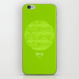 flow - green iPhone Skin