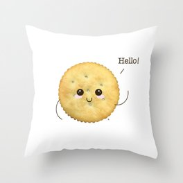 Super Cute Realistic Cracker Kawaii (Clever huh?) :p Throw Pillow