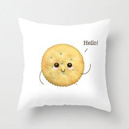 Super Cute Realistic Cracker Kawaii (Clever huh?) :p Throw Pillow