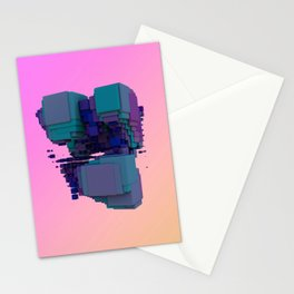 Sci-fi Cubes Stationery Cards
