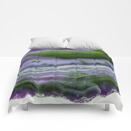 Purple and Green Agate Comforters