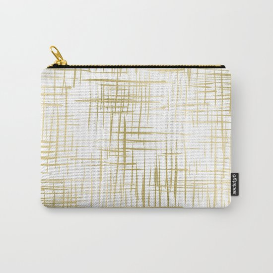 Crosshatch Gold Carry-All Pouch