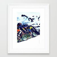 tour de france Framed Art Prints featuring Le Tour de France by Stefan Lucut