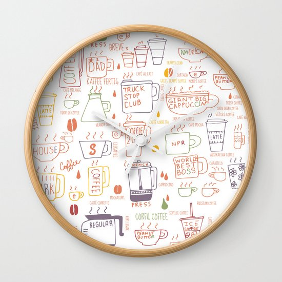 COFFEE IS DIVERSE Wall Clock