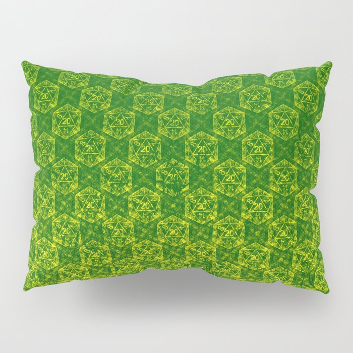 D20 Druid Ranger Crit Pattern Premium Pillow Sham