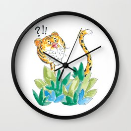 Spots, your tail is up! Wall Clock