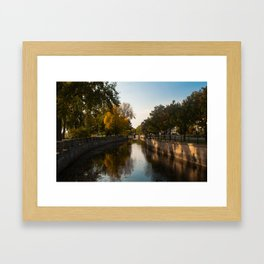 Lachine Canal Reflections Framed Art Print