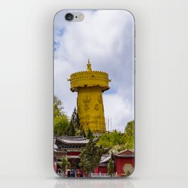 Giant tibetan prayer wheel iPhone Skin
