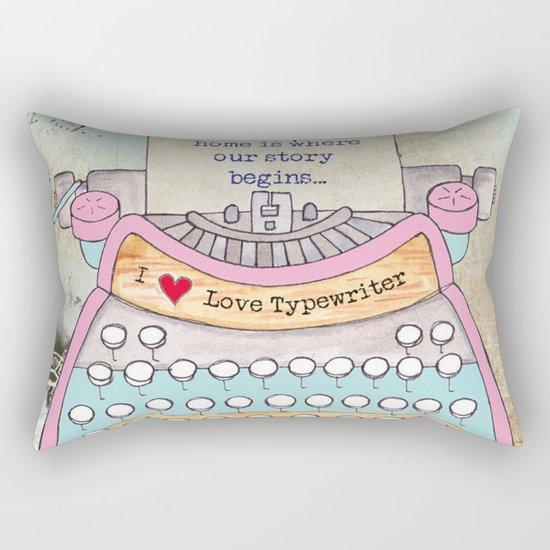 Typewriter #5 Rectangular Pillow