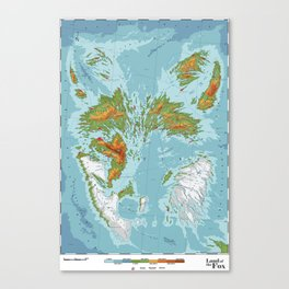 Vulpini - Land of the Fox Canvas Print