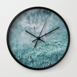 lets surf xx Wall Clock