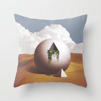 desert Throw Pillows featuring Desert by lacabezaenlasnubes