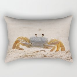 Portrait of a Ghost Crab Rectangular Pillow