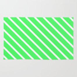 Mint Julep #1 Diagonal Stripes Rug
