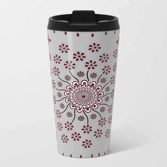 Pattern Z Metal Travel Mug