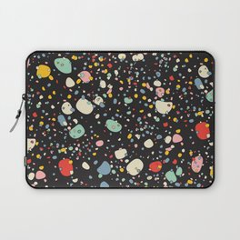 modern scandinavian multi-colour pebbles black Laptop Sleeve