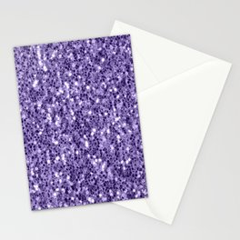 Ultra violet purple glitter sparkles Stationery Cards