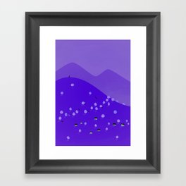 With the Wild Wolves around you Framed Art Print