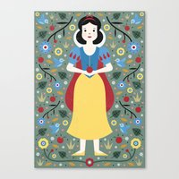 snow white Canvas Prints featuring Snow White  by Carly Watts