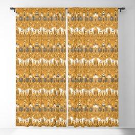 Yellow + Gray Fairy Tale Blackout Curtain