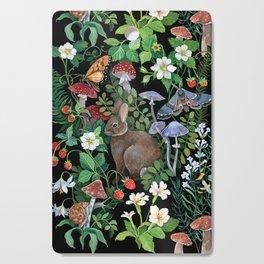 Rabbit and Strawberry Garden Cutting Board