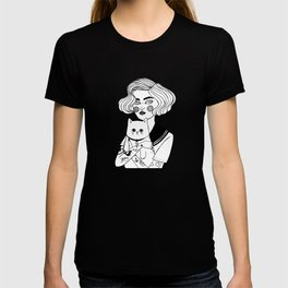 Sailor Girl With Cat T-shirt