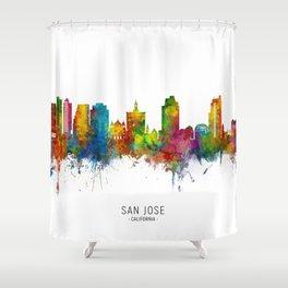 San Jose California Skyline Shower Curtain