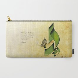 Arabic Calligraphy - Rumi - Joy Carry-All Pouch