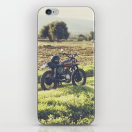 Moto guzzi, café racer, photo in south italy, man cave. Scrambler, fine art, motorcycle, motorbike iPhone Skin