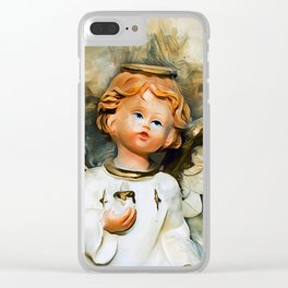 Angel From Heaven Clear iPhone Case