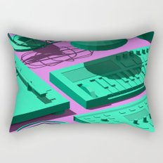 Low Poly Studio Objects 3D Illustration Rectangular Pillow