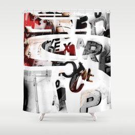 LETRAS - BONS ARES 2 Shower Curtain