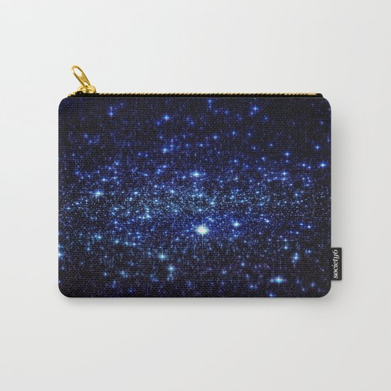 Dark Blue Stars Carry-All Pouch