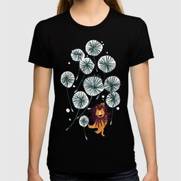 Lion on dandelion T-shirt