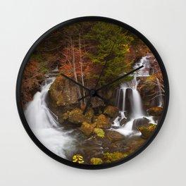 Ryuzu Falls near Nikko, Japan in autumn Wall Clock