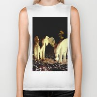 baby elephant Biker Tanks featuring Baby elephant by nicky2342