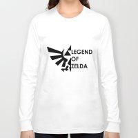 zelda Long Sleeve T-shirts featuring Zelda  by Clair Mtz