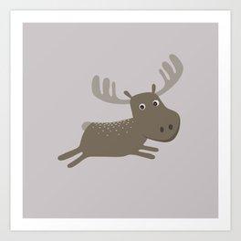 Cute Moose Art Print