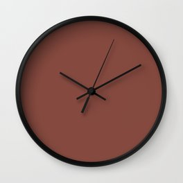Dunn and Edwards 2019 Spice of Life Color of the Year (Rich Muted Red) DET439 Solid Color Wall Clock