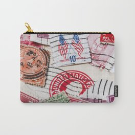 Vintage Red Stamps Carry-All Pouch