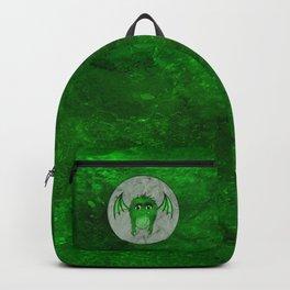Little Monster Illustration Monster with Wings Green monster SBDesigns Backpack