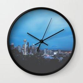Seattle Twilight Wall Clock
