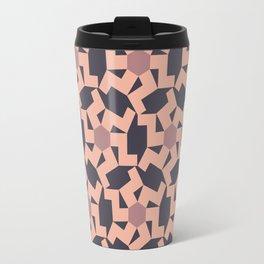 Digital Geometric Motif Rose palette Travel Mug