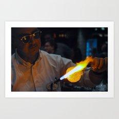 Main Street Glassmaker Art Print