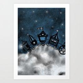 circus - stars Art Print